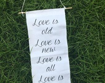 Love Is Banner, wedding banner