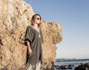 Black Poncho | Nomad Kimono Stone Washed Black Boho Kimono Free Shipping Poncho Bohemian Dress Gypsy Kimono Summer Cover Up Beach KSN01