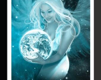 Earth Angel Art Print by Jason Mccreadie 2014.