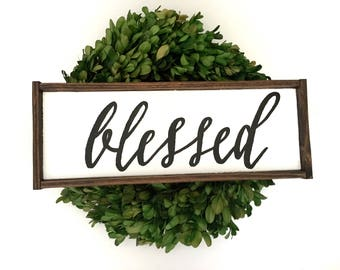 Blessed Handcrafted Wooden Sign