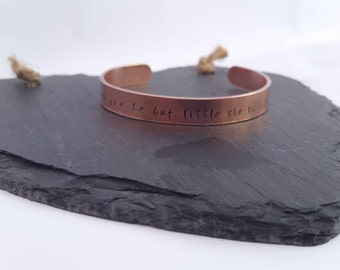 Personalised bracelet / Copper bracelet/ adjustable cuff/ copper cuff/ Custom bracelet/ own quote / bridesmaids gift / wedding gift/