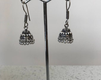 Small Silver Jhumka Earrings