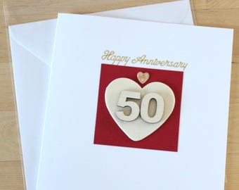 50th anniversary cards etsy