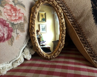 Italian Florentine Wood Gold Ornate Mirror