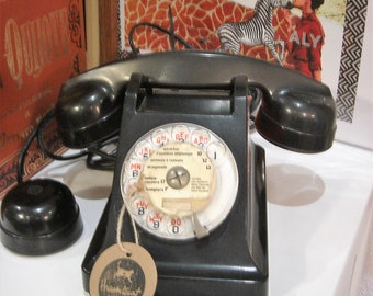 French bakelite table telephone, 1950s