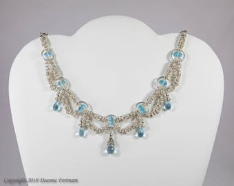 Blue Topaz and Sterling Silver Necklace