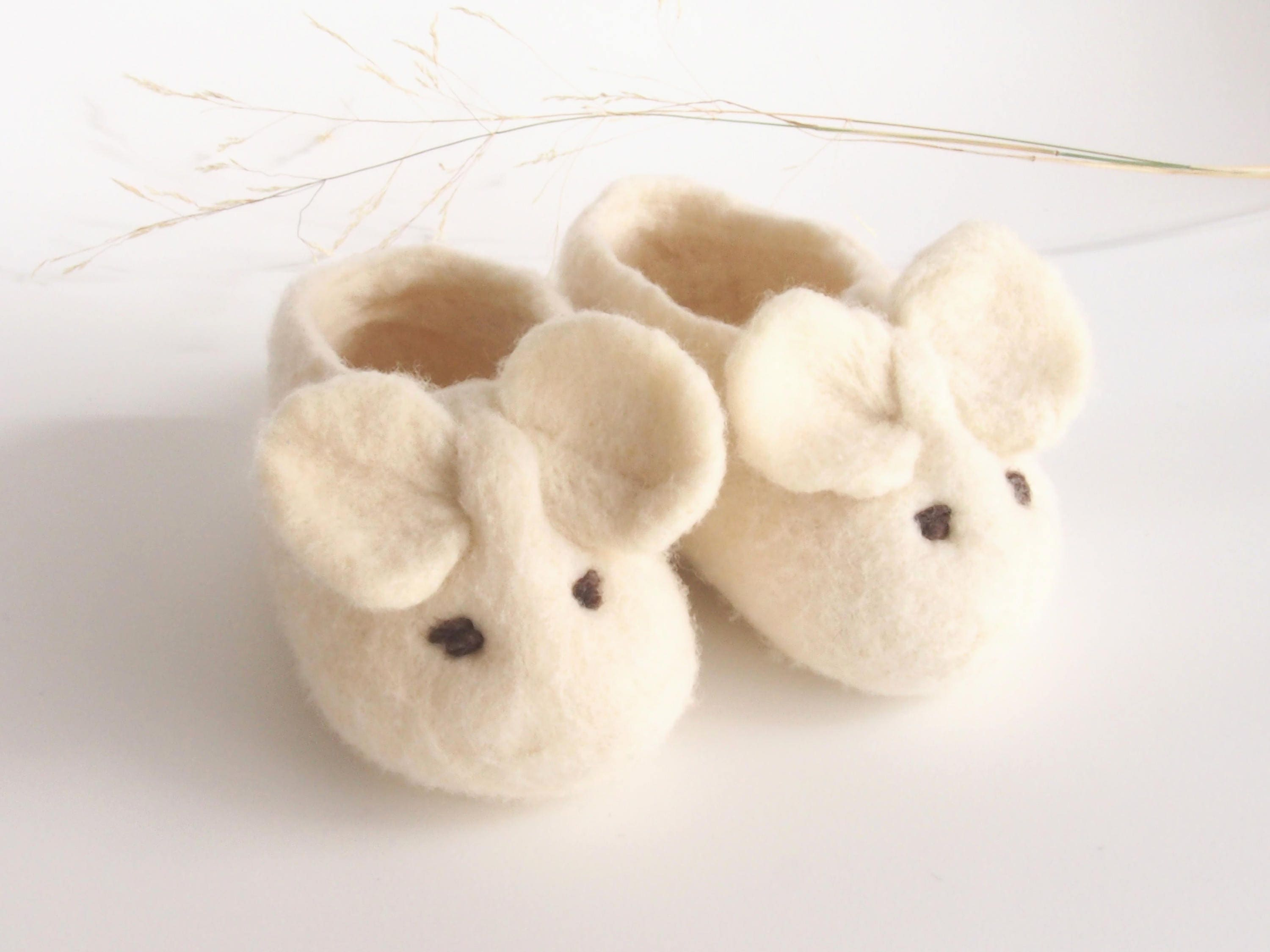 Baby Booties merino wool booties shoes mouse special baby t