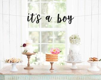 its a boy banner, baby shower banner, baby boy banner, gender reveal banner,  baby shower decorations,  boy baby shower