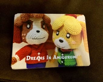 4x5 Amigurumi Digby and Isabelle magnet
