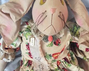 Handmade Bunny Doll, Art Doll Rabbit, Handmade Primitive Bunny, Primitive Rabbit, Easter Rabbit Doll, Easter Primitive Doll, Happy Easter