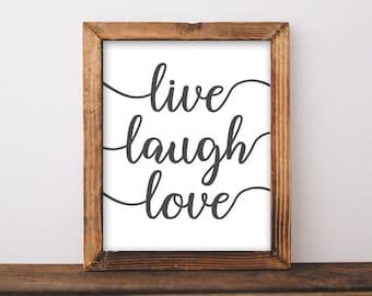Printable Art, Motivational Art, Inspirational Printable Quote Art Digital Art, Live Laugh Love printable art home printable wall art print