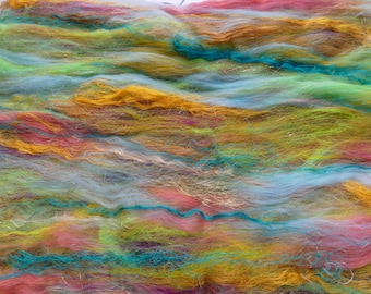 Super Lofty And Soft Lucy In The Sky With Diamonds Batt 4.85 Ounces Luxury Spinning Felting