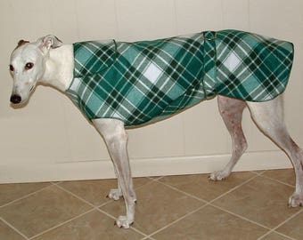 W17 Green Plaid Greyhound Winter Coat.  Free Shipping!