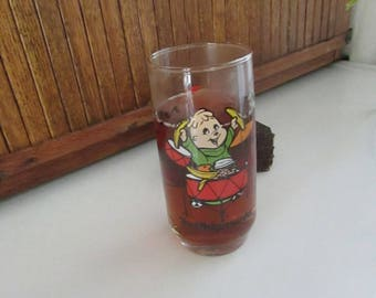 Theodore of The Chipmunks Beverage Glass – Alvin and The Chipmunk's Promotional Glass – Vintage Advertising Tumbler