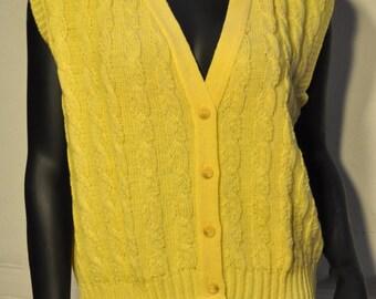 Womens Vintage Sweater Vest