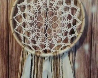 Dream catcher - Crochet Lacey Dream Catcher - Wall Hanging - Wall decor - Fiber Art - Free Shipping