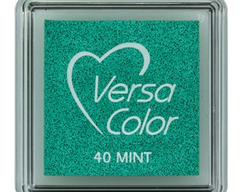 VersaColor ink pad, mint, small ink pad, mint inkpad, pigment ink pad, DIY, gift for crafters, craft supplies, rubber stamp ink pad