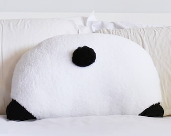 Panda Booty Pillow - Back Pocket - Panda Lover - Panda Butt - Panda Gifts - 22 x 16 in