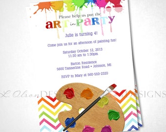 Art Party Birthday or Special Event Invite - DIY Printable
