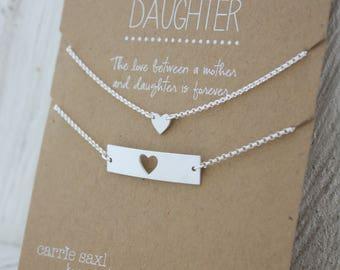 Mother Daughter Bracelet Set - Mother's Day gift - From Daughter For Mom - Bar bracelet - bracelet Gift - gift for mom - Wedding Gift Set