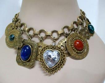 LES BERNARD, Inc. Vintage 70s Charm Necklace