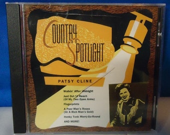 "040218 09 Used ""Country Spotlight"" Patsy Cline CD Dominion 30112"