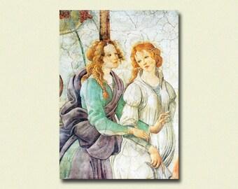 Art Botticelli Reproduction Print - Fine Art Print Retro Art Reproduction Home Decor Home Decorating Modernismt
