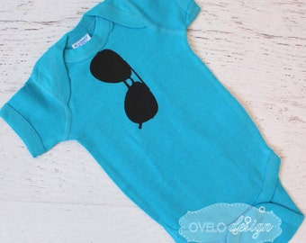 THE ORIGINAL Aviator Onesie in Turquoise