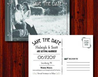 Postcard Save the Date - Digital 4x6
