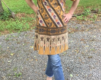 Sale! Wonderful Hippie Tunic Dress Handmade 70s To Die For Small 2 4 6 Cotton