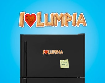 I Love Lumpia (I Heart Lumpia) Magnet