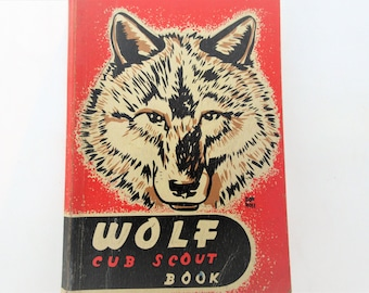 Vintage Cub Scout Book | Wolf Cub Scout Manual | Wolf Cub Print | Scout Book | Boy Scouts of America