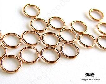 25 pcs 6mm 20 Gauge 14K Rose Gold Filled Jump Rings Open Connectors F29RGF