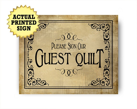 Sign our Guest Quilt Wedding print,  Printed Rustic Wedding Guest Quilt Sign, Signature Wedding Quilt, signature quilt, vintage wedding