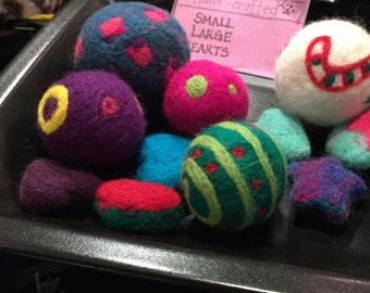 Natural Wool Catnip Balls (Small) - Made To Order