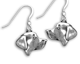 Sterling Silver Labrador Earrings