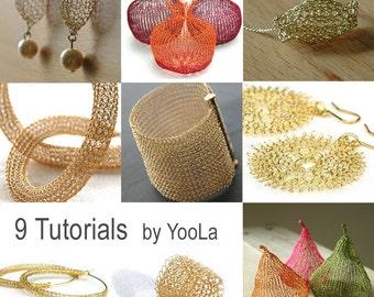9 Wire Crochet Patterns how to crochet wire jewelry PDF patterns crochet wire work yoola tutorials ebook jewelry instructions