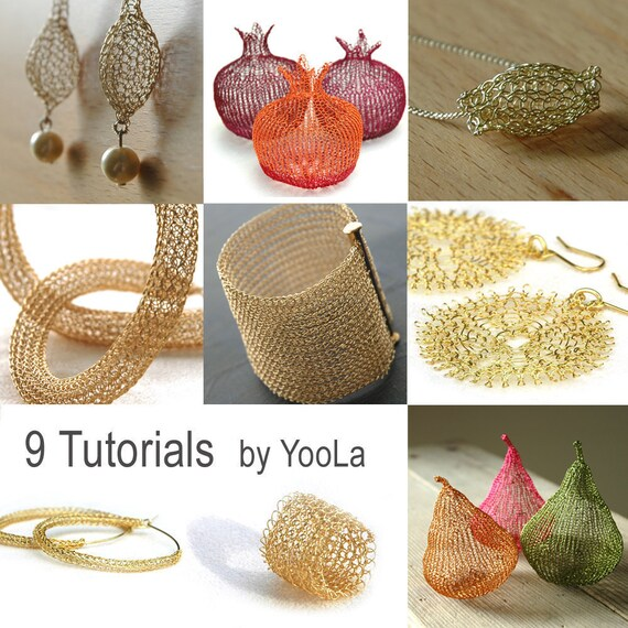 9 Wire Crochet Patterns how to crochet wire jewelry PDF patterns ...