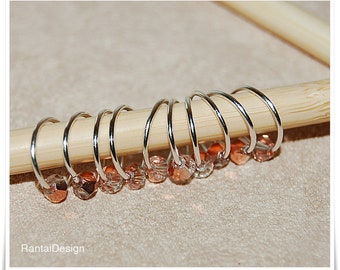 Stitch markers for knitting rosé gold plated