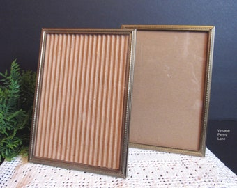 Vintage Brass Frames, 5x7 Frames, Vintage Picture Frames, Photo Frames