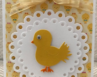 Baby Chick Easter Card