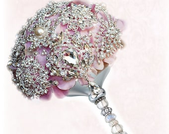 how to make crystal brooch bouquet