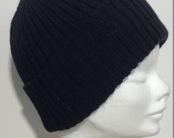 Cashmere Cap Beanie knitd, Made in Italy, earthly fantasies-FREE SHIPPING