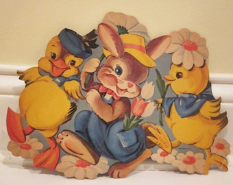 Vintage Printed in U.S.A. Colorful Easter Diecut