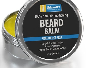 4oz Leave In Beard Balm and Beard Conditioner For Men 4OZ VALUE SIZE Control Your Beard Shape Best Leave In Beard Conditioner And Beard Balm