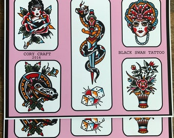 Traditional Tattoo Flash