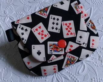 Plain Jane Change Purse - Poker