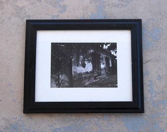 1980s Black & White Photograph Vintage Original Photography Framed Fine Art Print Dark Atmospheric Photographic Print