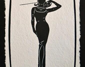 BREAKFAST AT TIFFANY'S Papercut - Hand-Cut Silhouette