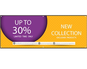 Percent Off Vinyl Single Sided Banner with Grommets